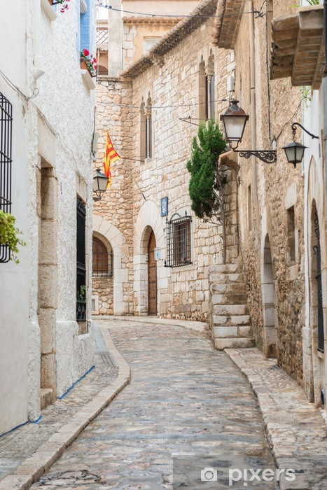 Medieval street in sitges old town spain sticker pixers we live to change - Sitges tourist information office ...
