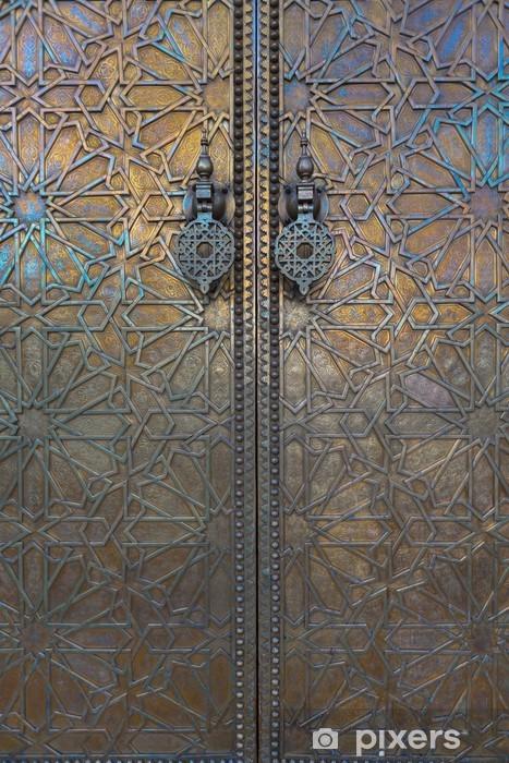 Door at Dar El Makhzen, Morocco Pixerstick Sticker - Morocco