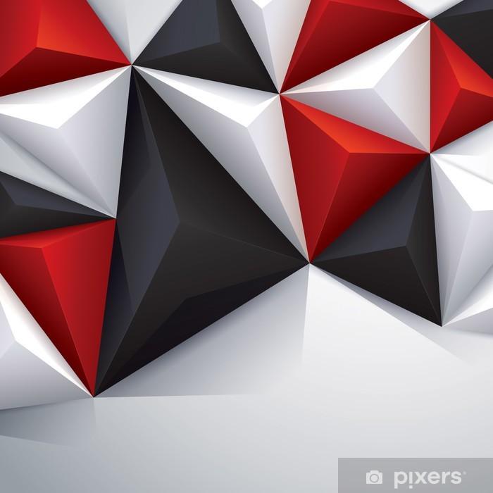 Papier Peint Noir Rouge Et Blanc Geometrique