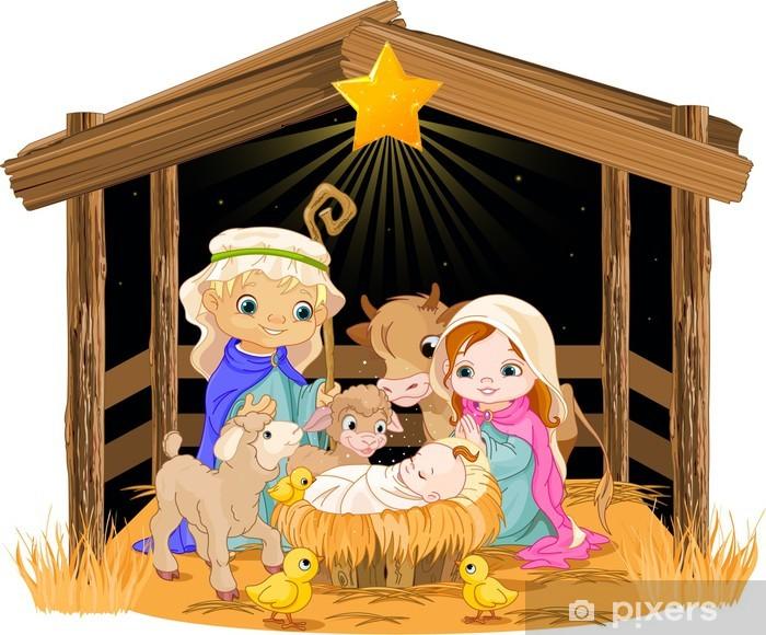 Imagenes Sagrada Familia Navidad.Vinilo Para Armario Sagrada Familia En La Noche De Navidad