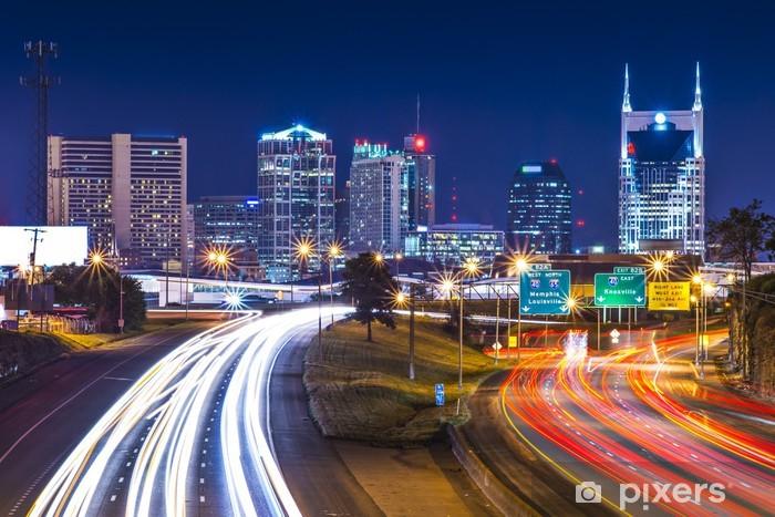 Downtown Nashville Vinyl Wall Mural - America