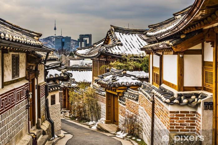 Naklejka Pixerstick Zabytkowej dzielnicy Seulu - Tematy