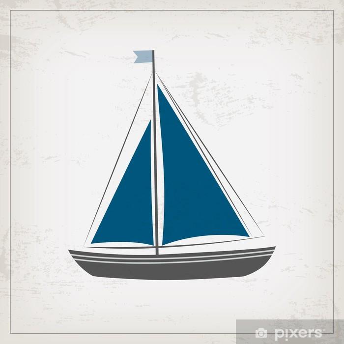 Naklejka Pixerstick Archiwalne karty morskich z łodzi - Style