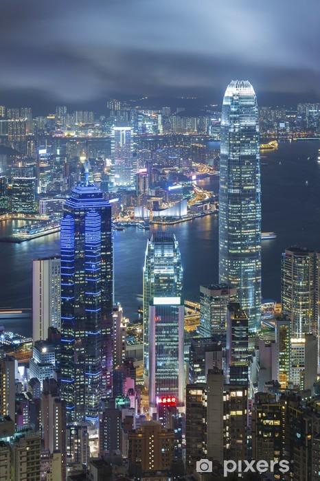 Fototapeta winylowa Victoria Harbor w Hong Kongu - Tematy
