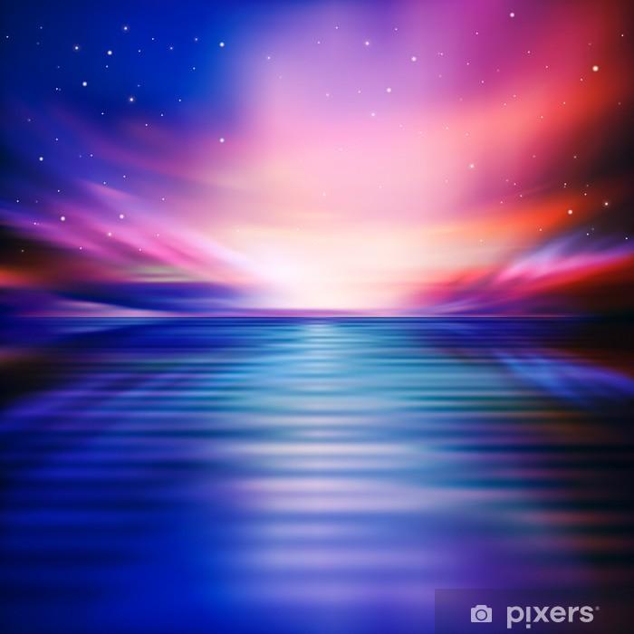 Naklejka Pixerstick Abstrakcyjne tła z chmury i wschód słońca - Niebo
