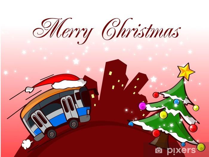 Adesivi Buon Natale.Adesivo Bus Di Buon Natale Pixerstick