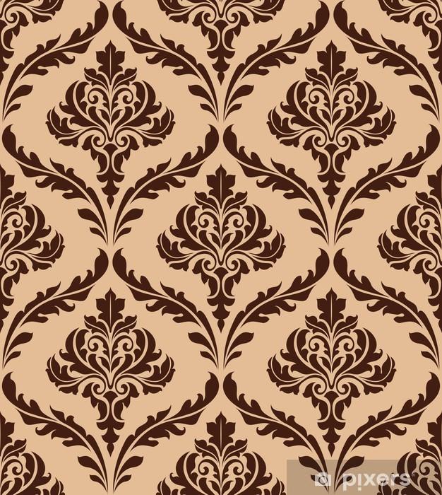 Vinyl-Fototapete Floral Damast nahtlose Muster - Hintergründe