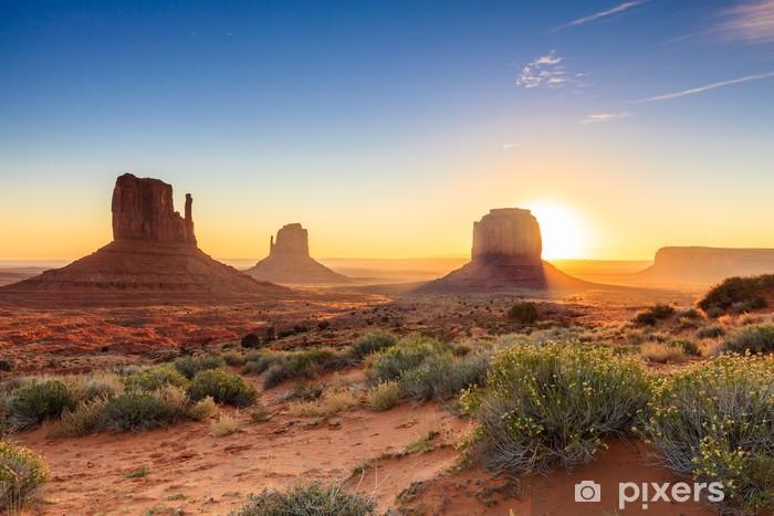 Pixerstick Sticker Monument Valley schemering, AZ, USA - Thema's