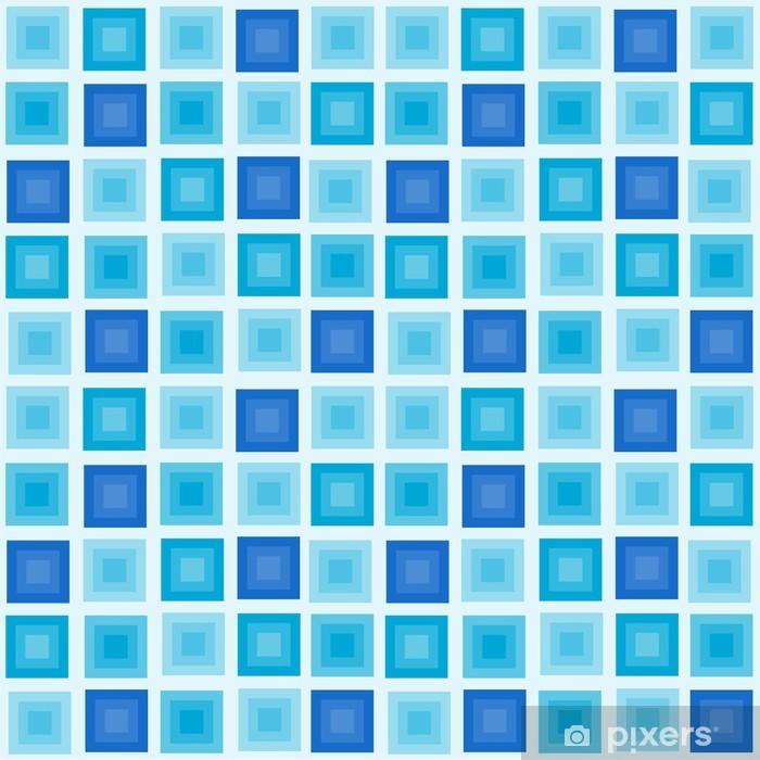 Plakat Ilustracji wektorowych bez szwu geometryczny wzór z kwadratów - Tła