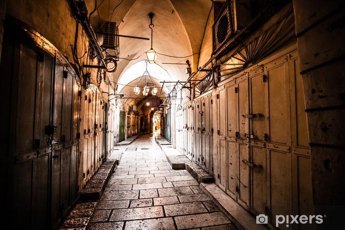 Ancient Alley in Jewish Quarter, Jerusalem, Israel. Pixerstick Sticker - Themes