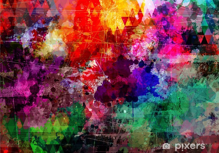 Vinyl Fotobehang Grunge stijl abstracte aquarel achtergrond - Thema's