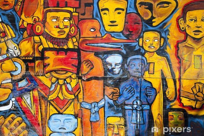 Pixerstick Sticker Graffiti op een muur in Mexico-Stad - Thema's