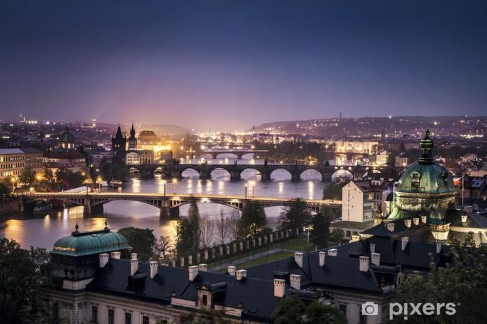 Fotomural Estándar Praga de noche - Praga