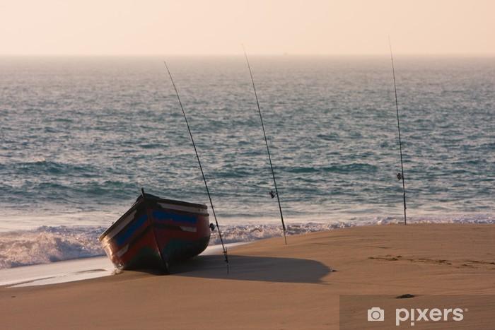 Fototapeta winylowa Samotna łódź 4 - Wakacje