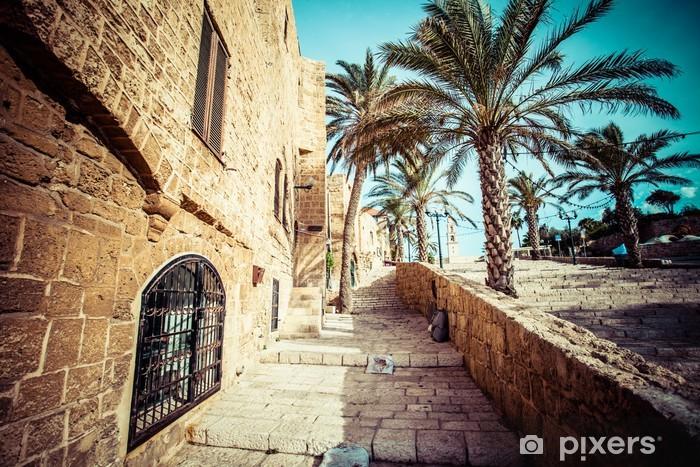 Vinilo Pixerstick Las viejas calles de Jaffa, Tel Aviv, Israel - Oriente Medio