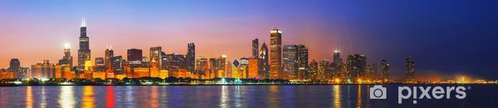 Vinilo Pixerstick El centro de Chicago, IL al atardecer - Temas