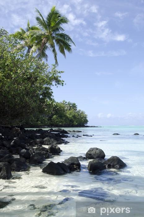 Fototapeta winylowa Aitutaki Lagoon, Wyspy Cooka - Oceania