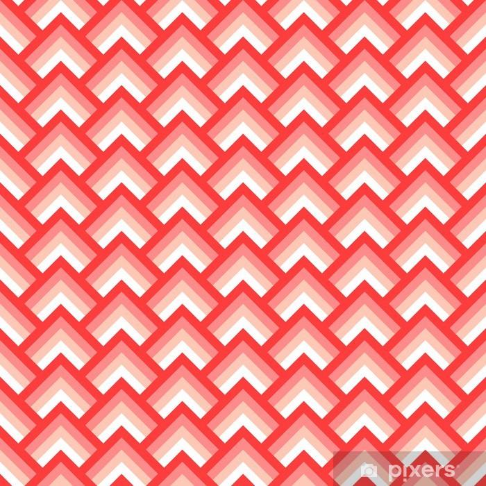 Vaskbar fototapet Rosa og hvitt chevron geometrisk sømløs mønster, vektor -
