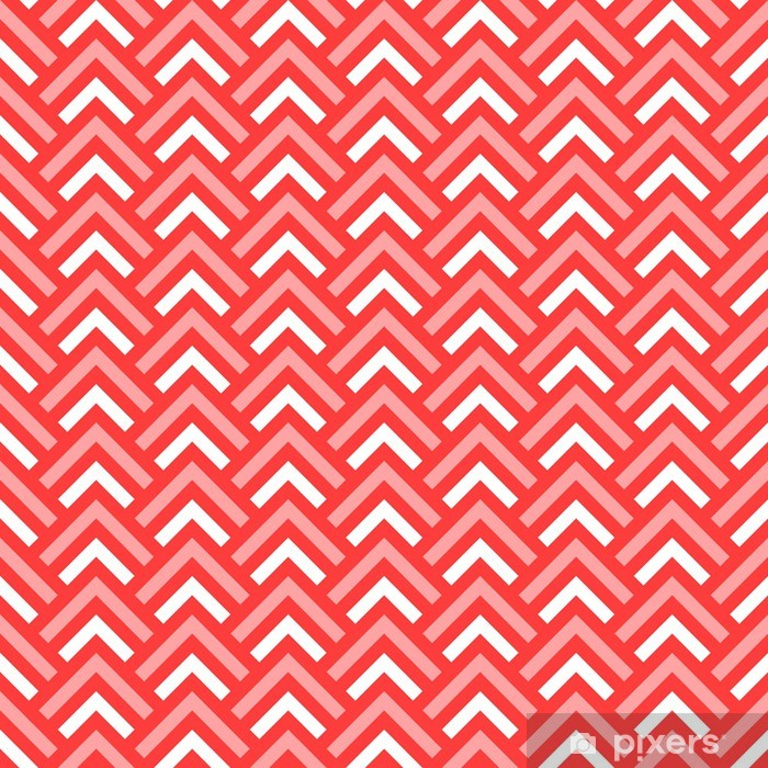 Pink and white chevron geometric seamless pattern, vector Window & Glass Sticker - Backgrounds