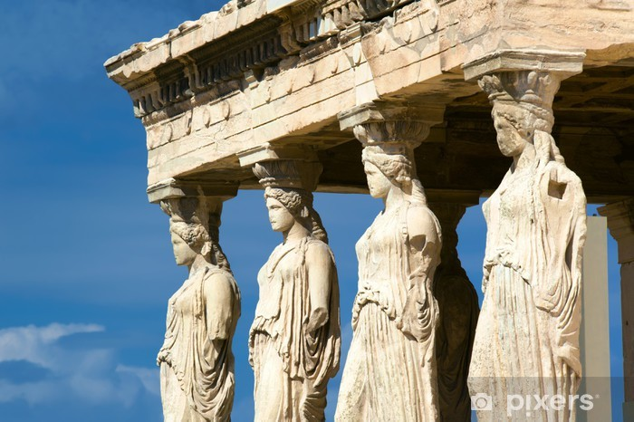 Caryatid sculptures, Acropolis of Athens, Greece Vinyl Wall Mural - Themes