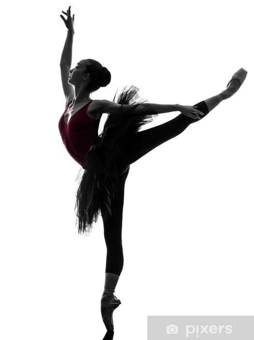 Papier peint Jeune femme ballerine danseuse de ballet danse silhouette 8e57896234a