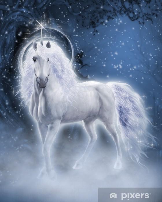 Nálepka Pixerstick White Unicorn 3D počítačová grafika - Témata