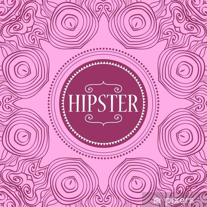 Plakát Šablona Hipster karta dekorativní rám - Značky a symboly