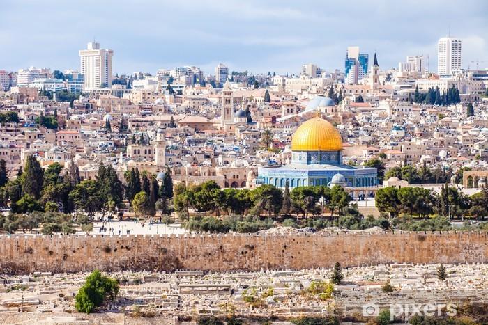 Vinilo Pixerstick Mousque de Al-Aqsa en la ciudad vieja - Jerusalem, Israel - Oriente Medio