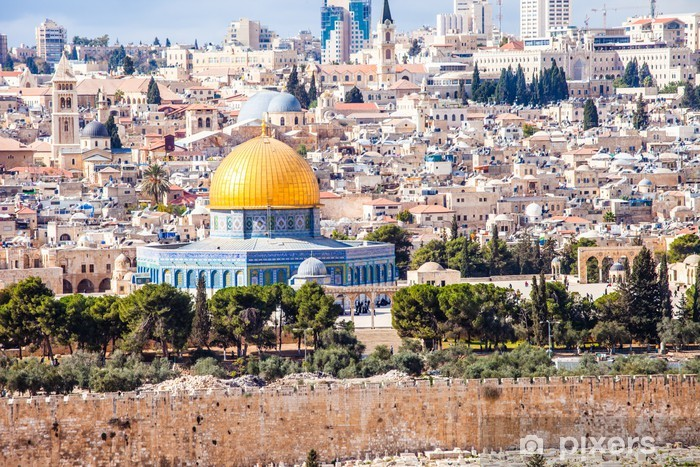 Pixerstick Dekor Mousque av Al-Aqsa i Gamla Stan - Jerusalem, Israel - Mellanöstern