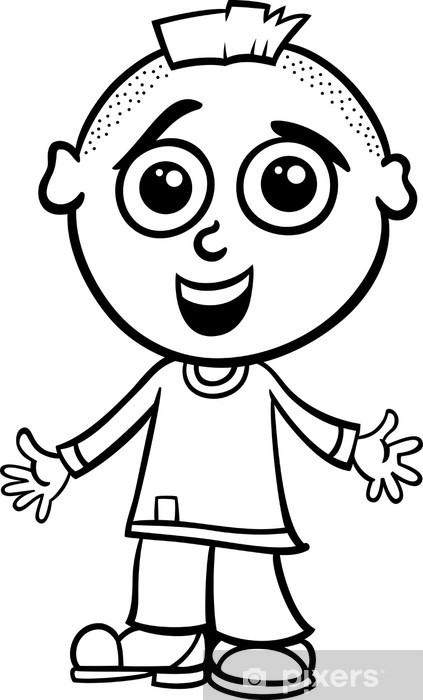 Sevimli çocuk Karikatür Boyama Duvar Resmi Pixers Haydi