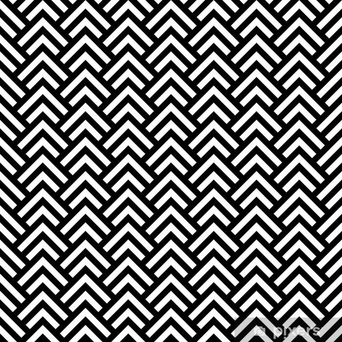 c4c981edd791e Vinilo Pixerstick En blanco y negro sin fisuras patrón chevron geométrico