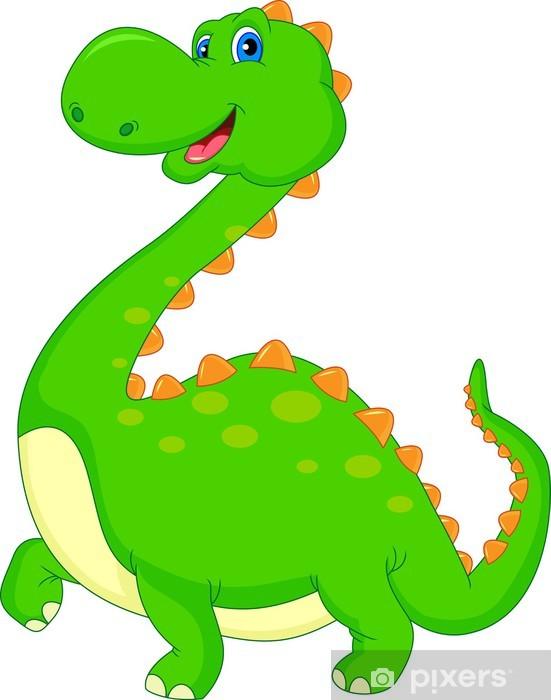 Fotomural Estándar Cute dibujos animados dinosaurio - Vinilo para pared