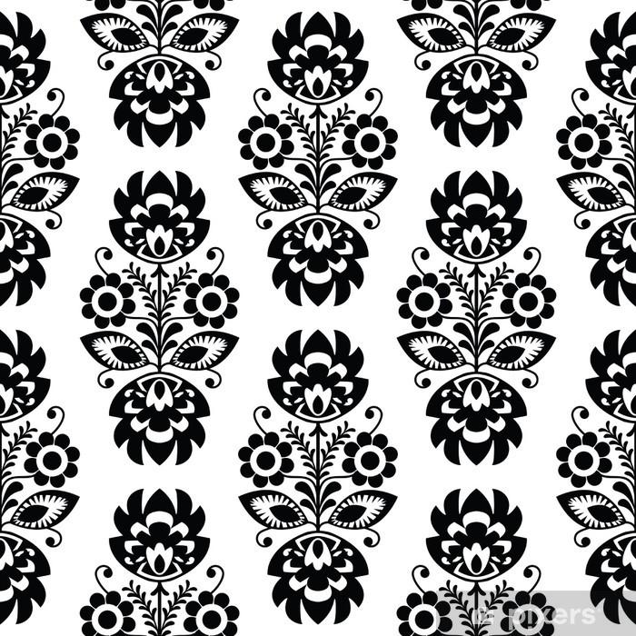 Poster Nahtlose traditionellen floralen Muster polish - ethnischen Hintergrund - Stile