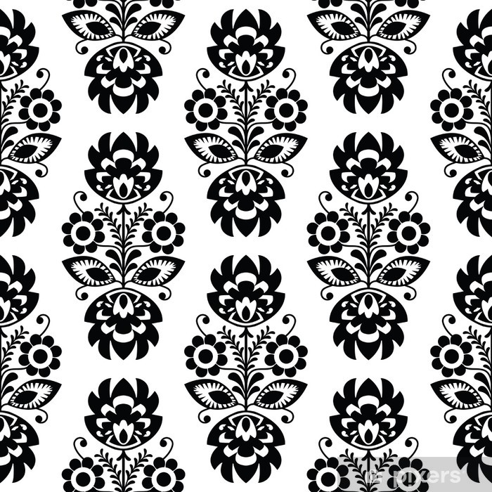Seamless traditional floral polish pattern - ethnic background Poster - Styles