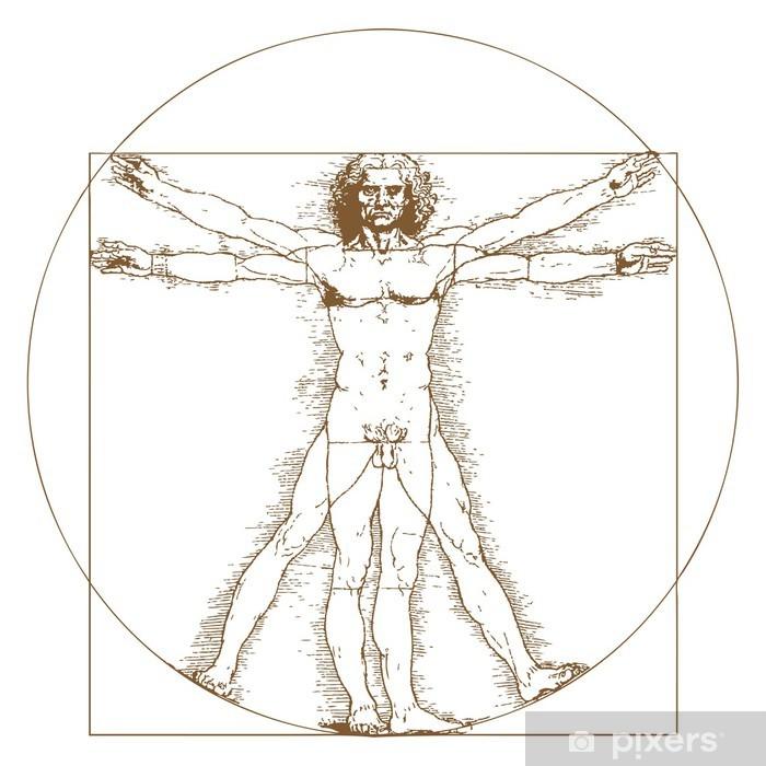Vinyl Fotobehang Man van Vitruvius van Leonardo Da Vinci - Overige
