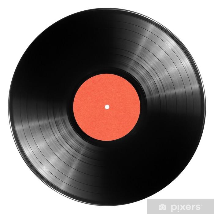 Naklejka Pixerstick Płyta winylowa - Muzyka