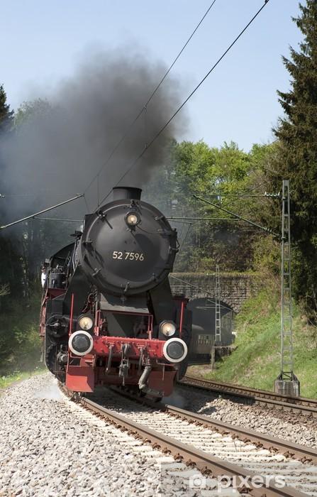Pixerstick Sticker Stoomtrein Schwarzwaldbahn op de sporen - Thema's