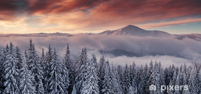Fototapeta zmywalna Góry - Panorama