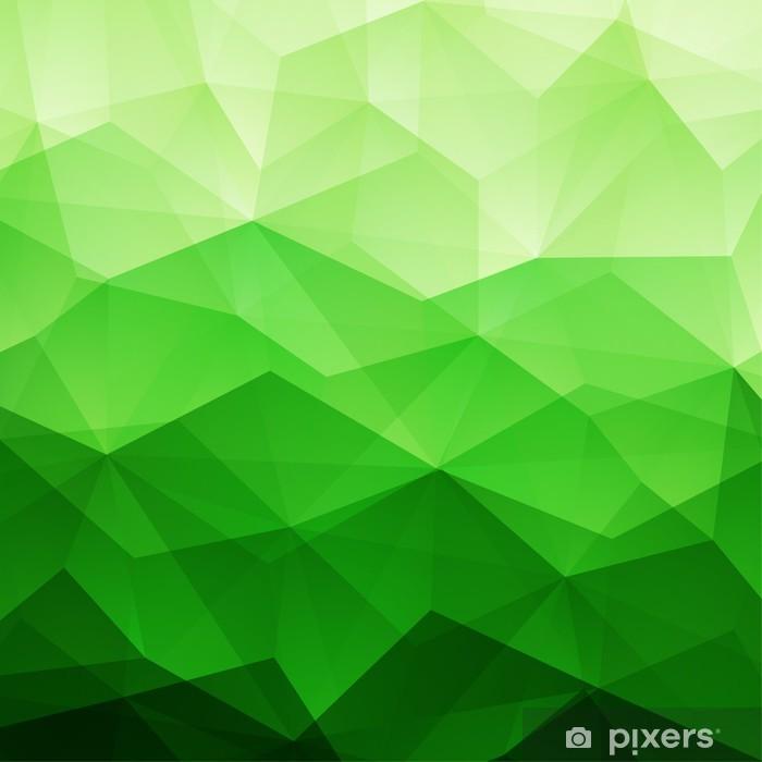 Naklejka Pixerstick Streszczenie zielone tło trójkąt - Abstrakcja