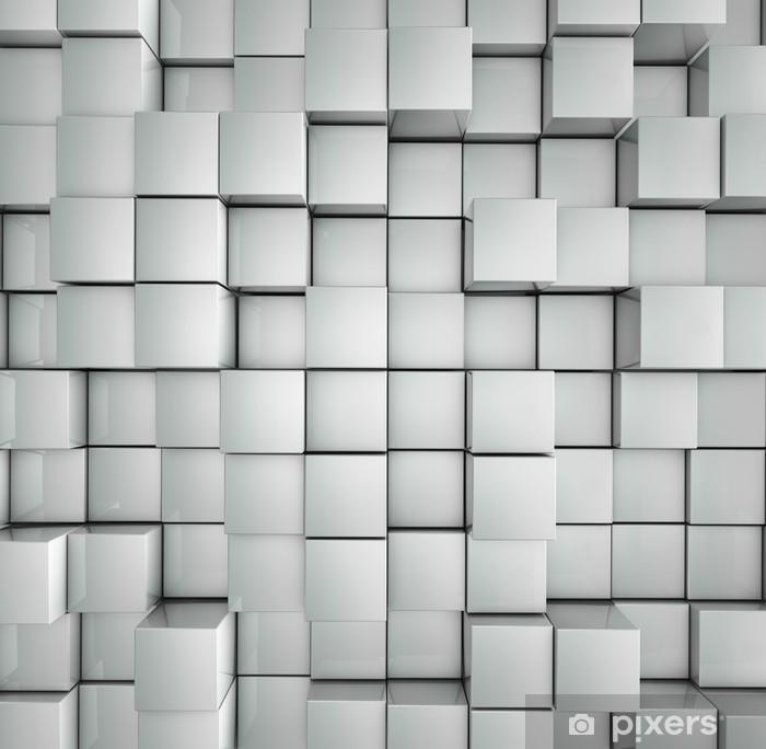 Poster Fond de cubes - Textures