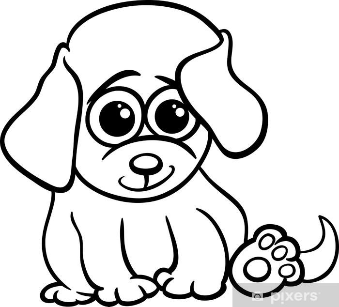 Fotomural Perrito Bebé Para Colorear De Dibujos Animados Pixers