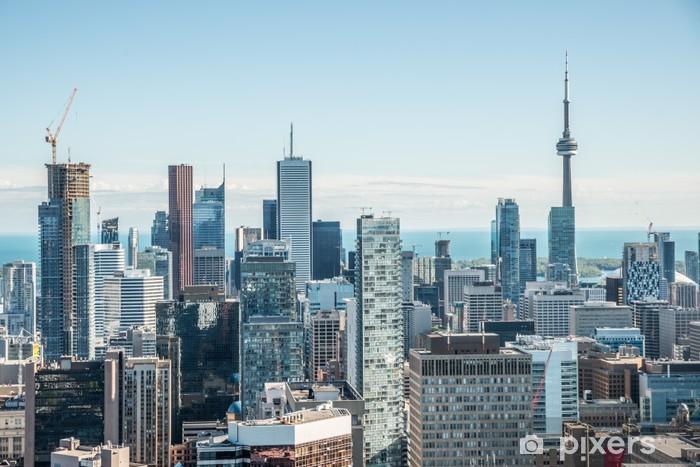 Sticker Pixerstick Vue panoramique du centre-ville de Toronto - Amérique