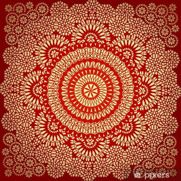 Naklejka Pixerstick Powtarzalne deseń w stylu mozaiki etnicznej. - Style