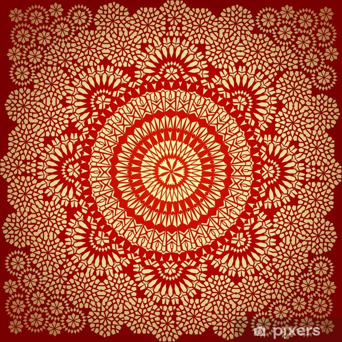 Seamless pattern in mosaic ethnic style. Vinyl Wall Mural - Styles