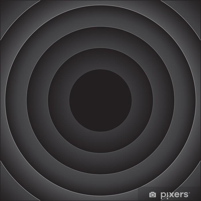 Sticker Pixerstick Vecteur abstrait avec des rondes noires - Abstrait