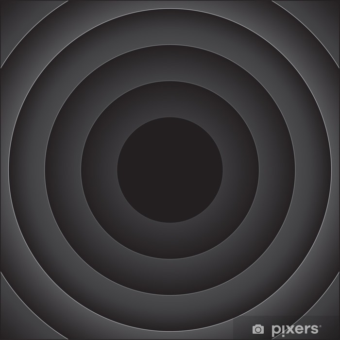 Vinilo Pixerstick Fondo abstracto del vector con las rondas de negro - Abstractos