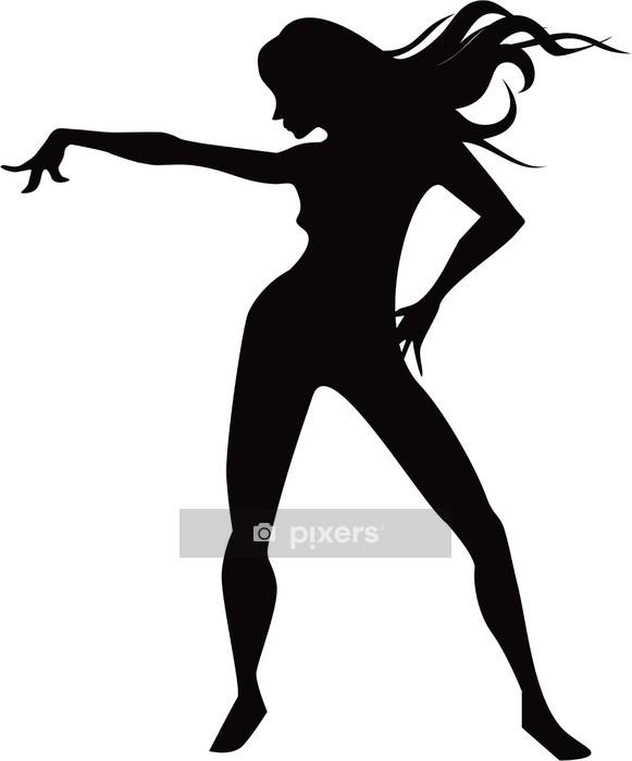 Sticker mural Fille de danse Silhouette • Pixers® - Nous vivons pour ... 4d9f873531f