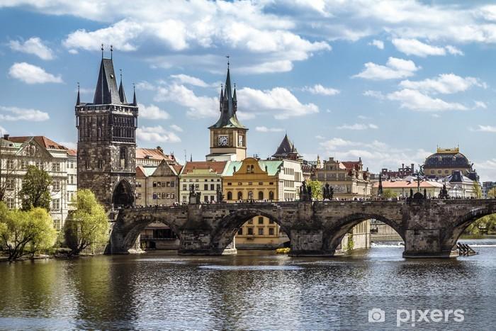 Sticker Pixerstick Prague, le pont Charles (Karluv Most) - Prague