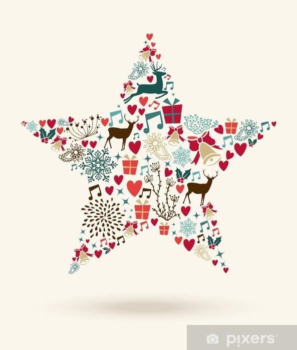 Frohe Weihnachten Aufkleber.Aufkleber Frohe Weihnachten Sternform Illustration Pixerstick
