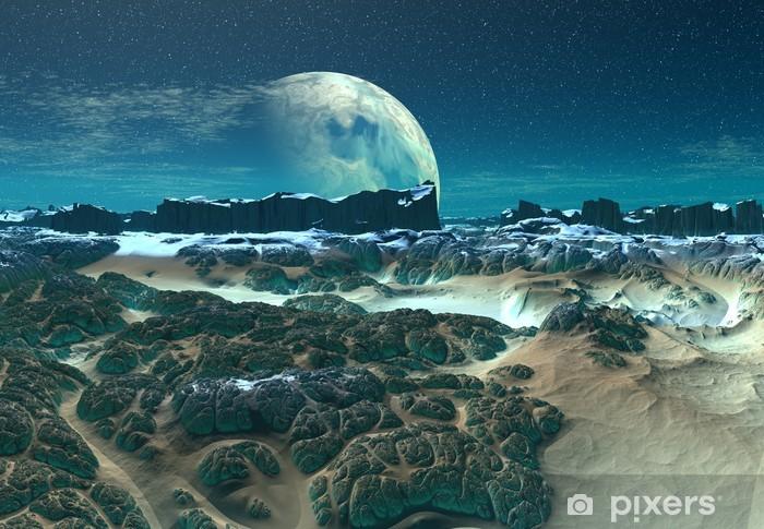 Vinylová fototapeta Alien Planet s horami - Vinylová fototapeta